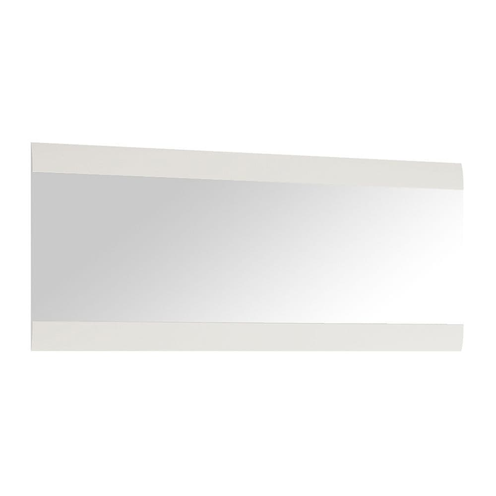 Brompton Wall Mirror 164 cm wide in White with oak trim
